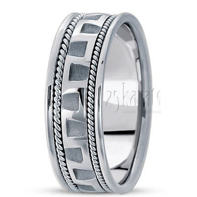 Modern Double Braided Wedding Ring with continuous S shaped design