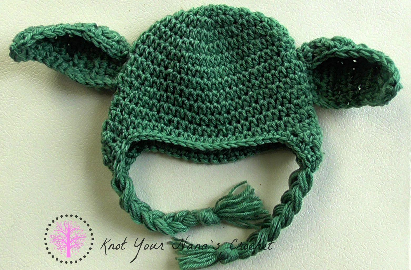 Knot Your Nana\'s Crochet: Crochet Yoda Hat   Knitting and Crochet ...