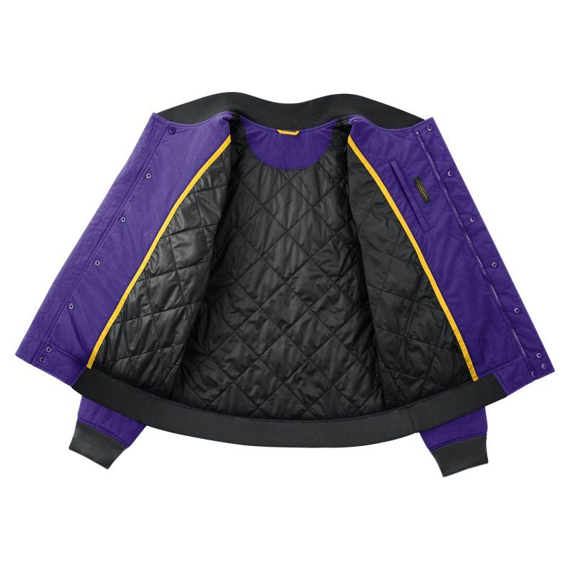 203590fa8 Los Angeles Lakers Nike Courtside Men s NBA Jacket - Purple