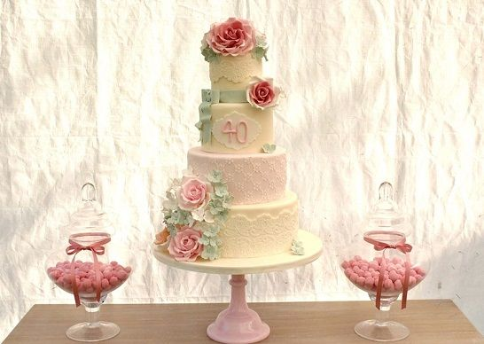 Birthday Cakes Beautiful Pictures ~ 40th birthday cake by sweet tiers uk inspiring cakes pinterest