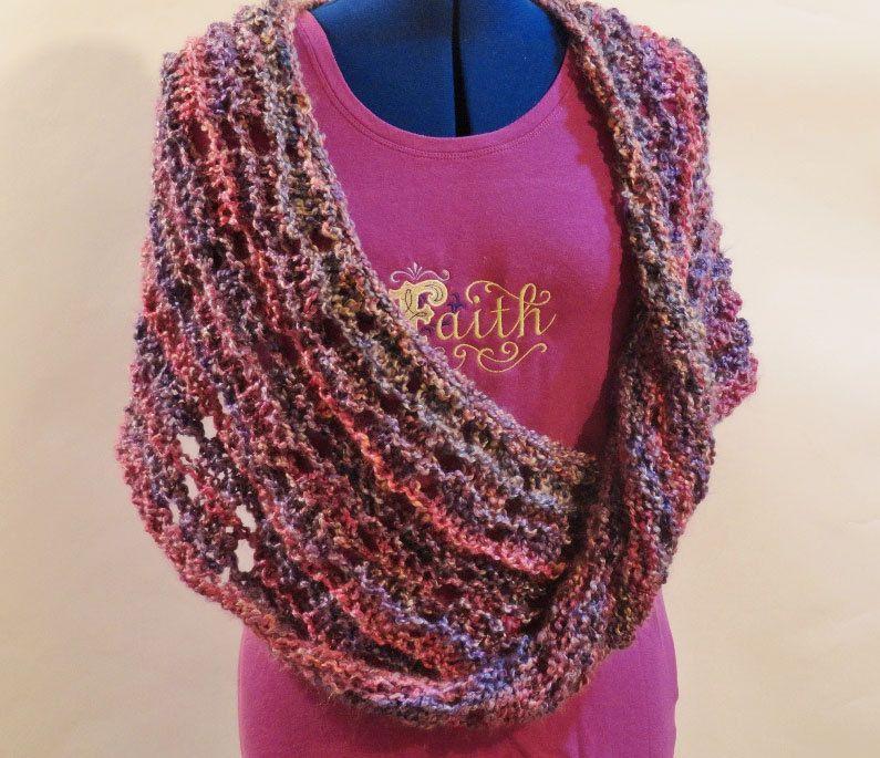 Mobieus Knit Cowl Pattern, Knitting Pattern for Homespun Yarn, Knit ...