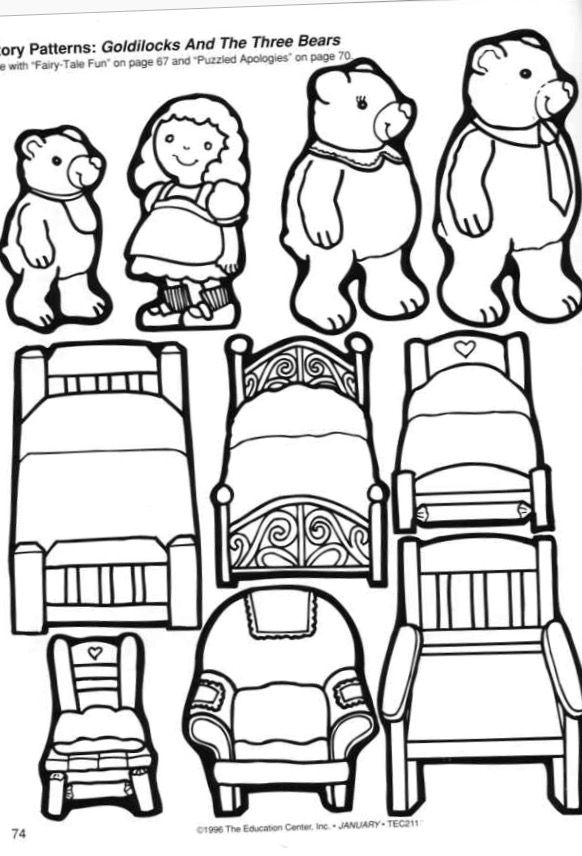 The three bears sequence coloring page 🐻🐻🐻 (With images