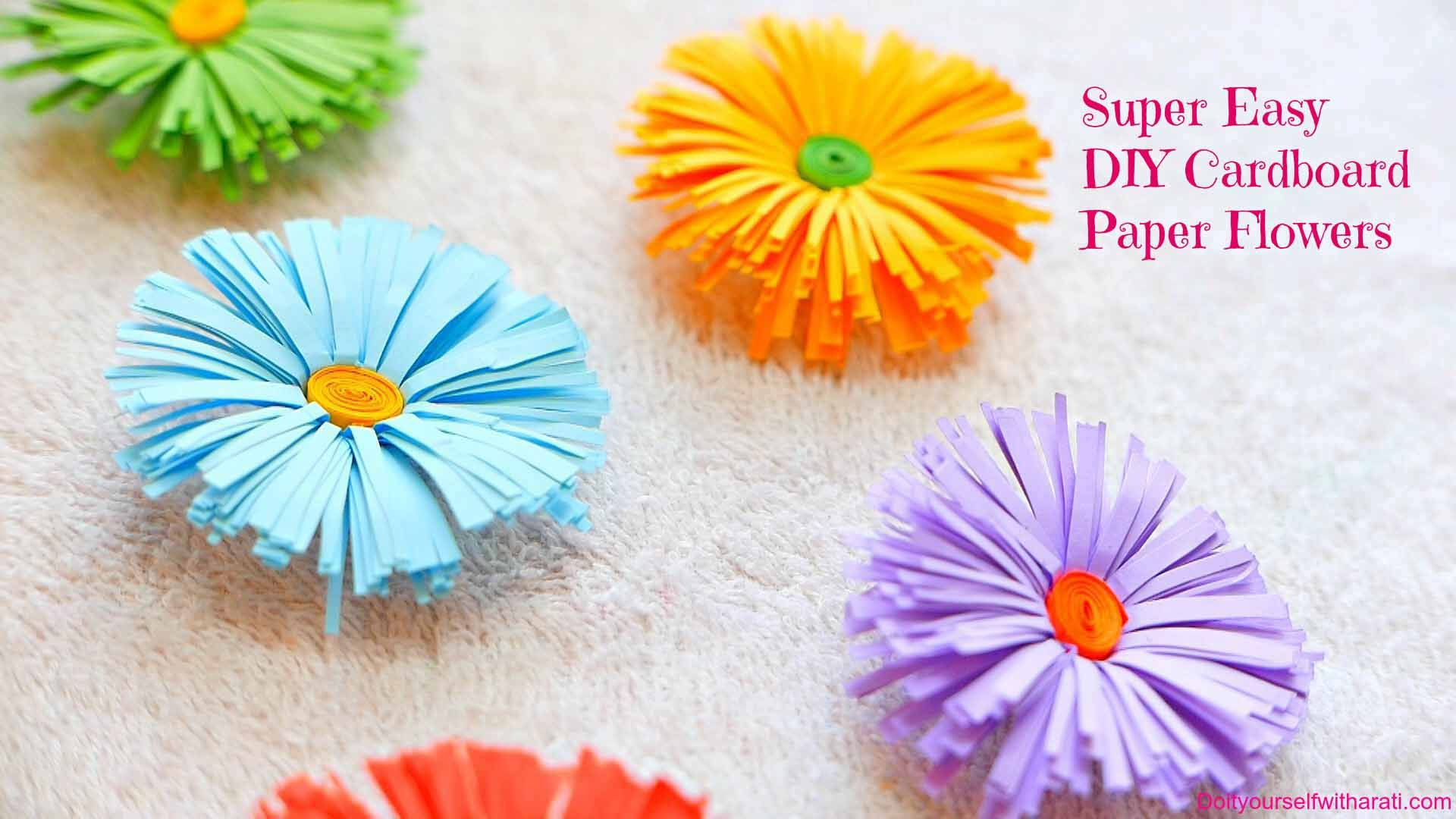 How To Make Handmade Flowers From Paper Today I Wanna Show You Guys How I Make These Diy Paper