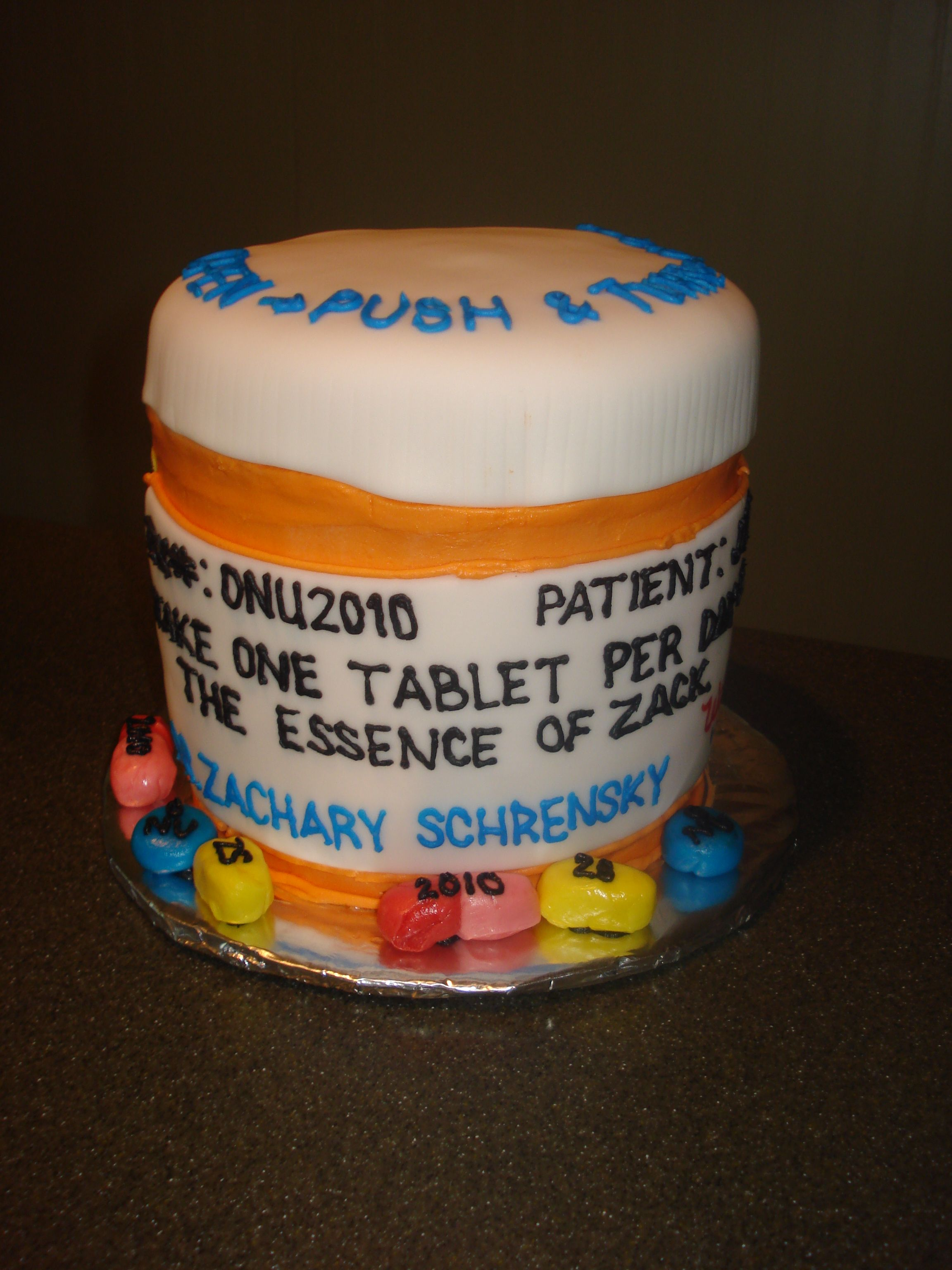 Pill Bottle Cake For Pharmacy Grad This Will Be Perfect In 6 Years