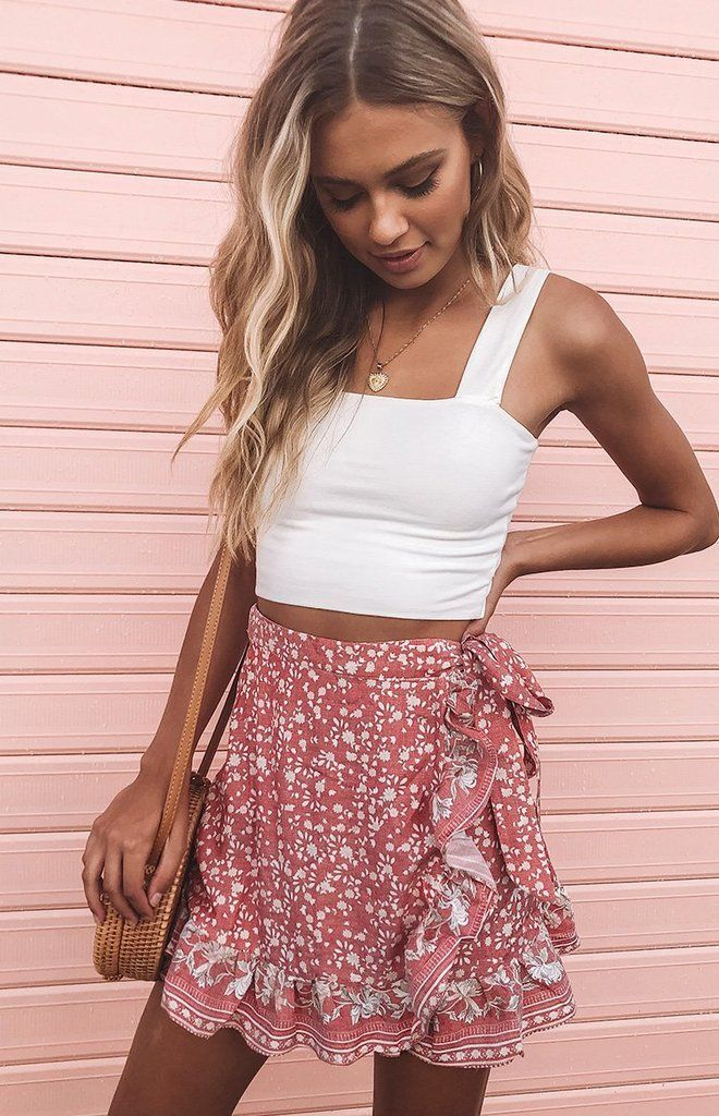Photo of Alissia Skirt Red Print