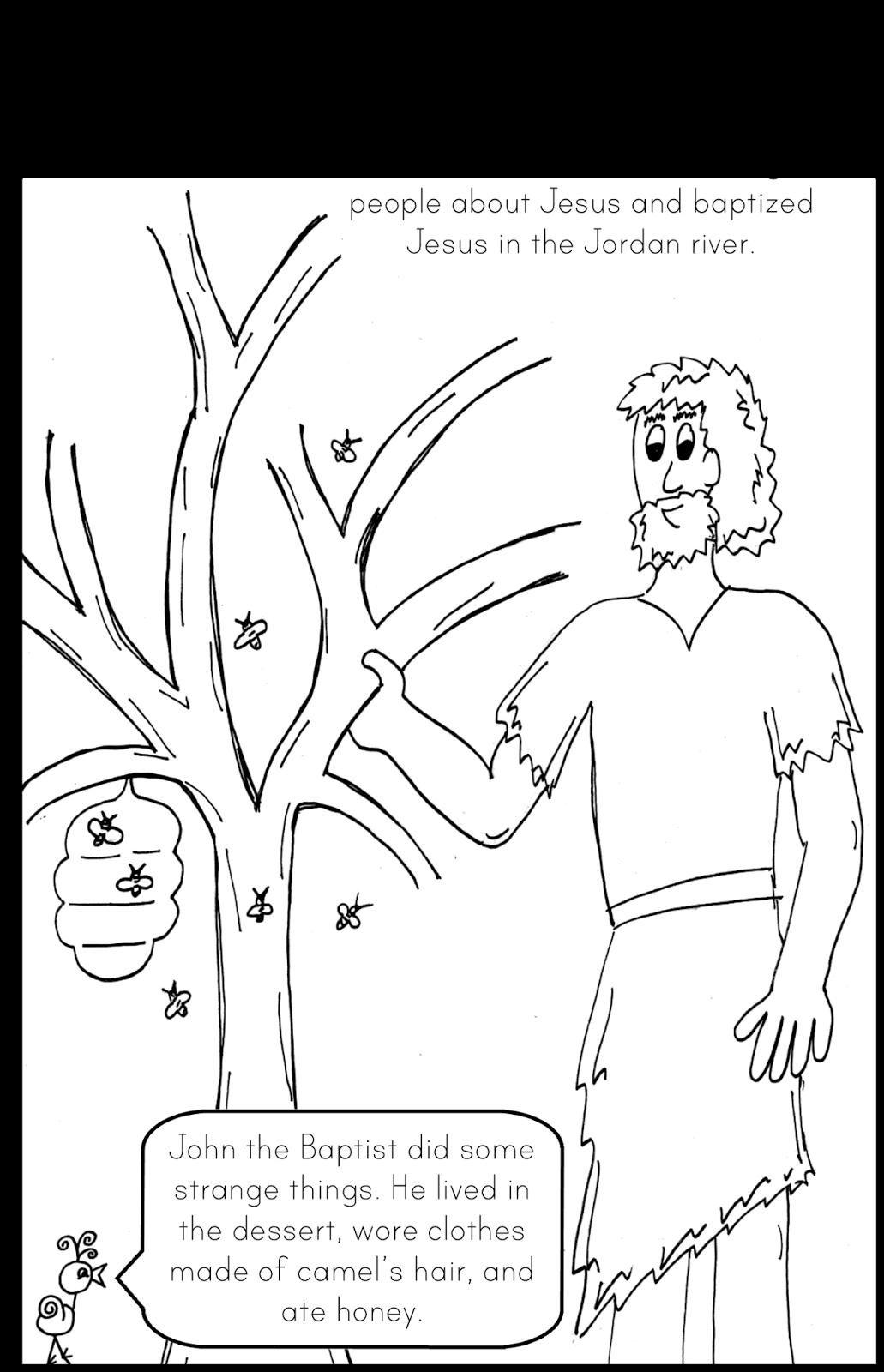 42 Coloring Page John The Baptist Catholic Kids John The Baptist Toddler Sunday School