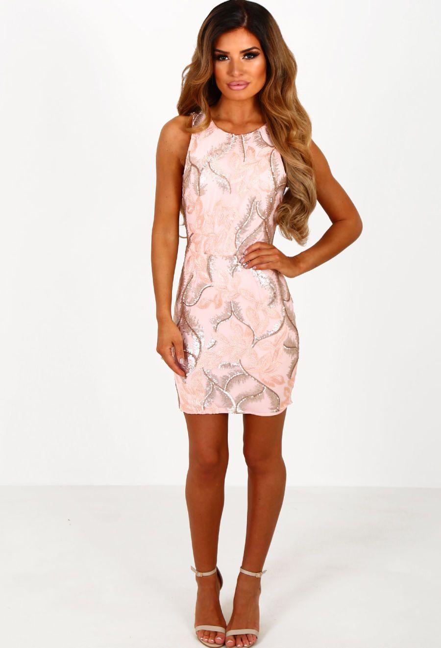 Girl talk pink sequin mini dress sequin mini dress and weddings