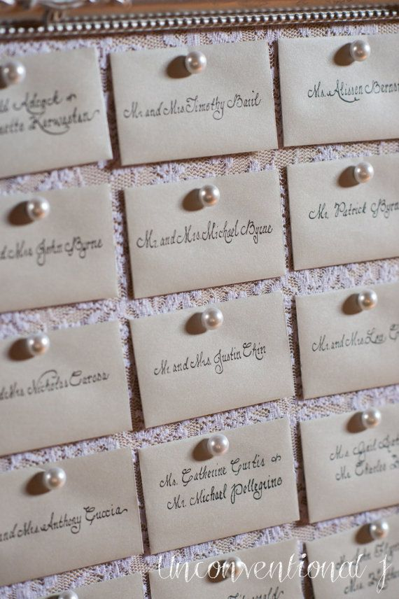 37ca56d4a76 Wedding Escort Card Seating Cork Board PEARL PUSH PINS 100 Thumb ...