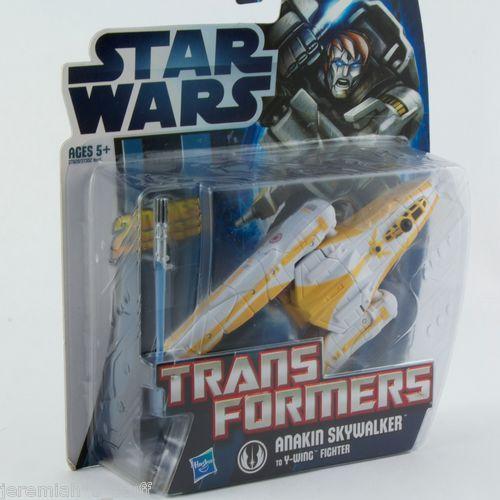 Star Wars Crossover Transformers Anakin Skywalker MECH to Y-Wing Fighter Hasbro