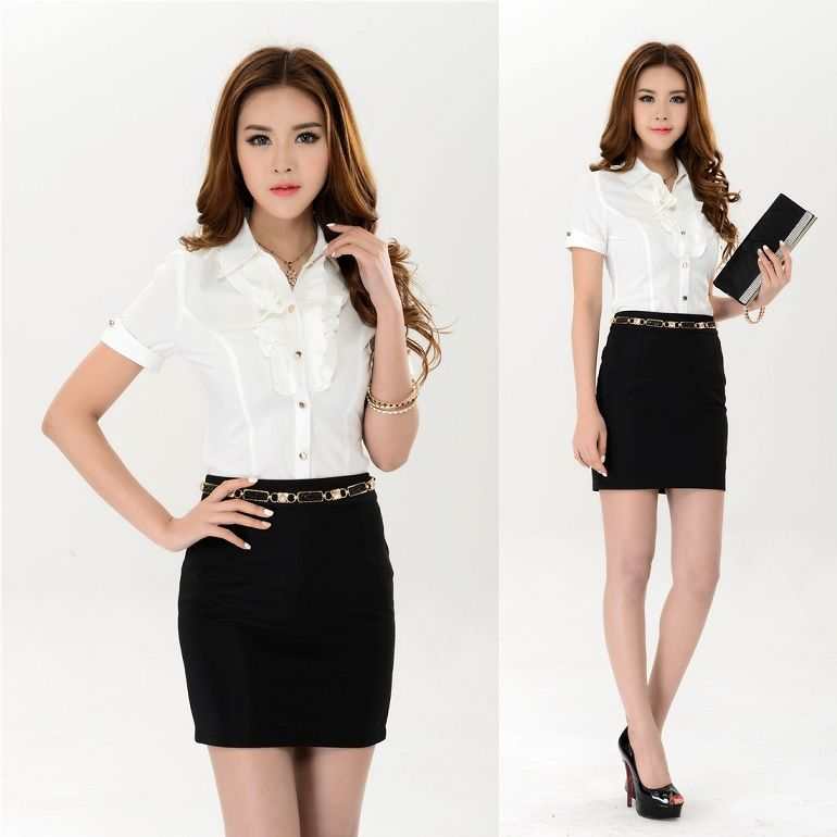 New-2015-Formal-Women-Skirt-Suits-Work-Outfit-Elegant-Fashion ...