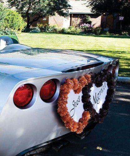 Double Heart Decorative Form Wedding Car Wall Decoration
