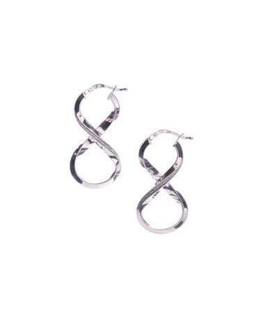 Look what I found on #zulily! Sterling Silver Glitter Infinity Loop Earrings #zulilyfinds