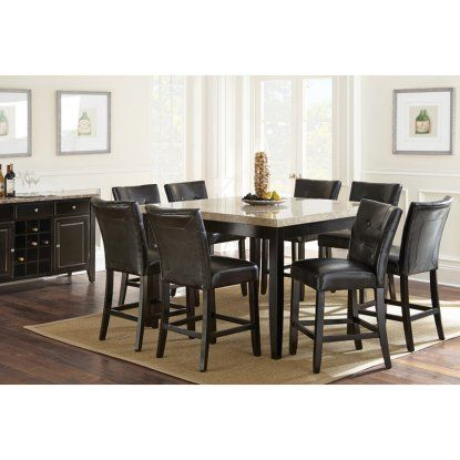 Steve Silver Monarch 9 Piece Counter Height Dining Table Set With Awesome Dark Cherry Dining Room Set Review