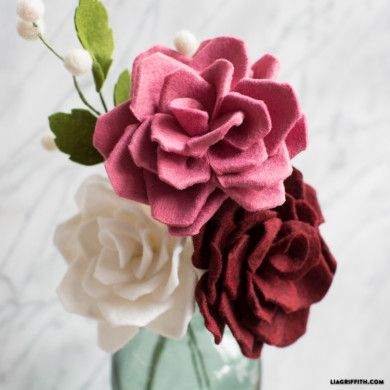 Gorgeous felt rose bud felt flower bouquet felt roses and felt explore felt roses felt flowers and more mightylinksfo
