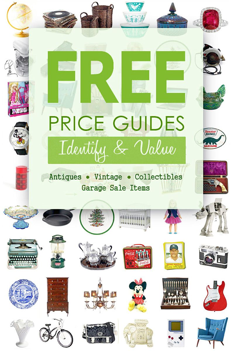 Free Price Guides Id Value Garage Sale Items Antiques