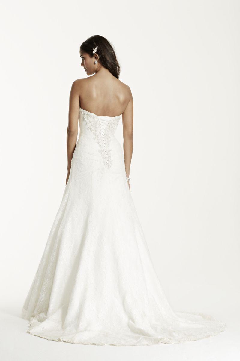 Vera wang plus size wedding dresses  Aline Lace Wedding Dress with Side Split Detail Style YP