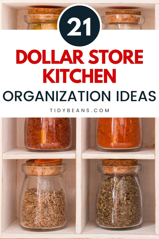 21 Dollar Store Kitchen Organization Ideas in 2020