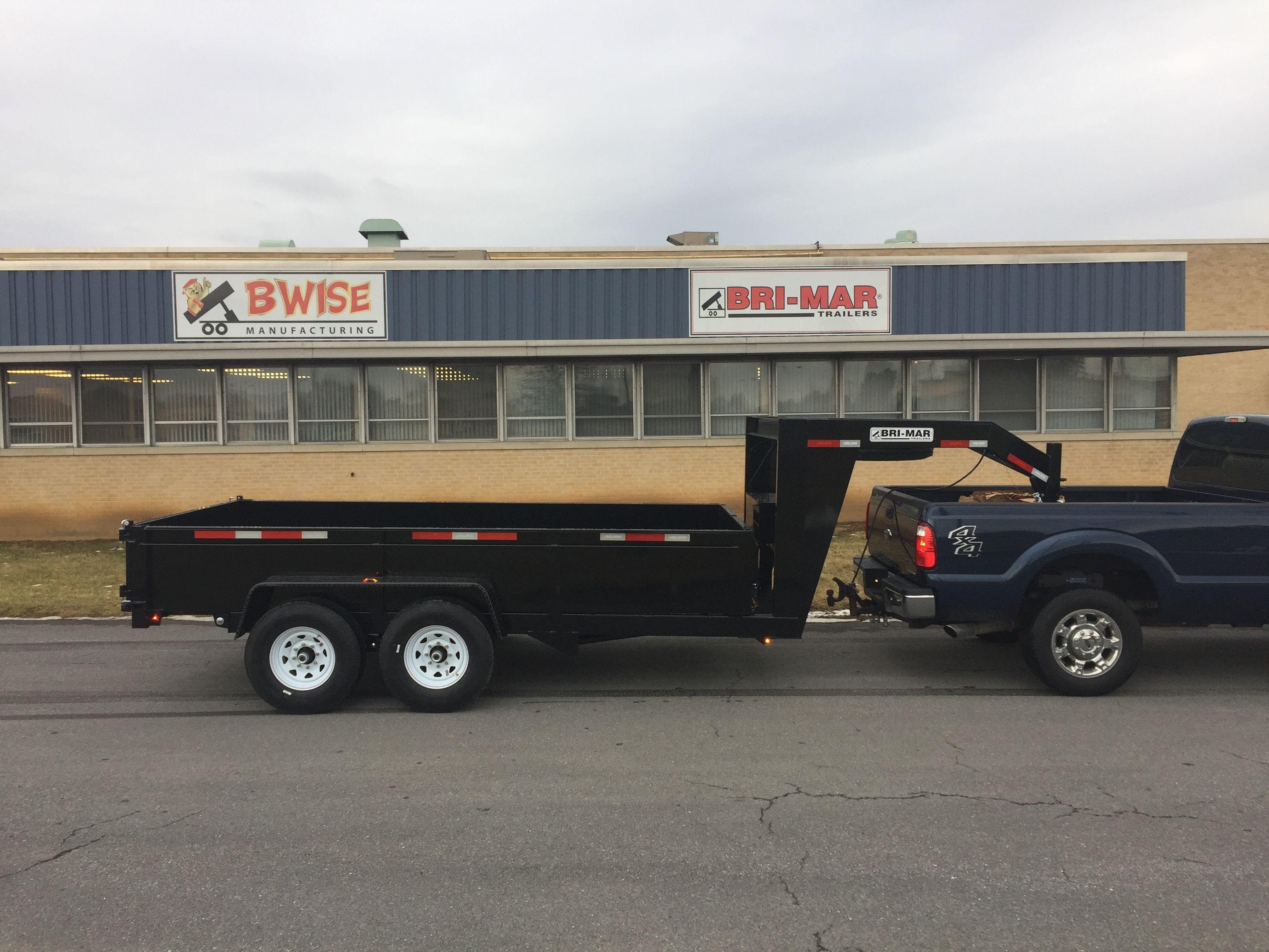 Bri Mar Dump Trailers Are Available With Goosenecks Dump Trailers Car Trailer Custom Trucks