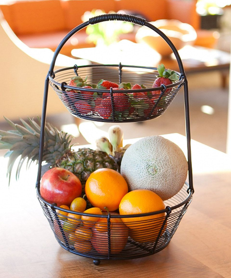 Bobbin Collection Two Tier Fruit Bowl By Mesa Zulilyfinds