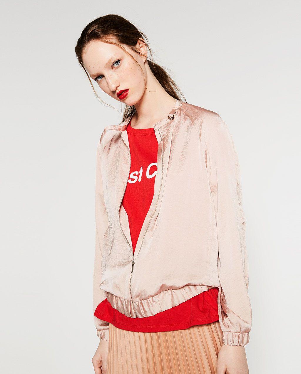 Glossy Bomber Jacket Bombers Woman Jacken Bomberjacke Modestil