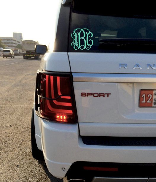 Monogram Car Decal by MonogramGrove on Etsy