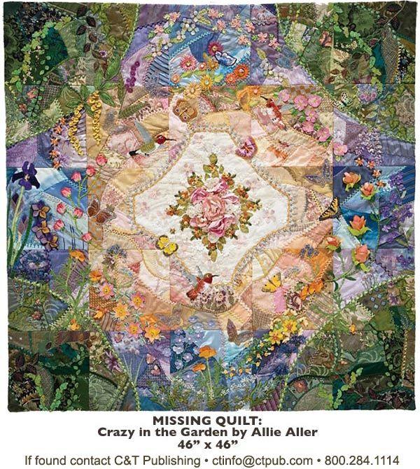 Stunning crazy quilt.