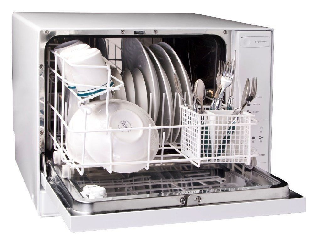 Haier 4 Place Setting Table Top Dishwasher Portable Apartments Singles Couples Haier Table Top Dishwasher Countertop Dishwasher Small Space Living