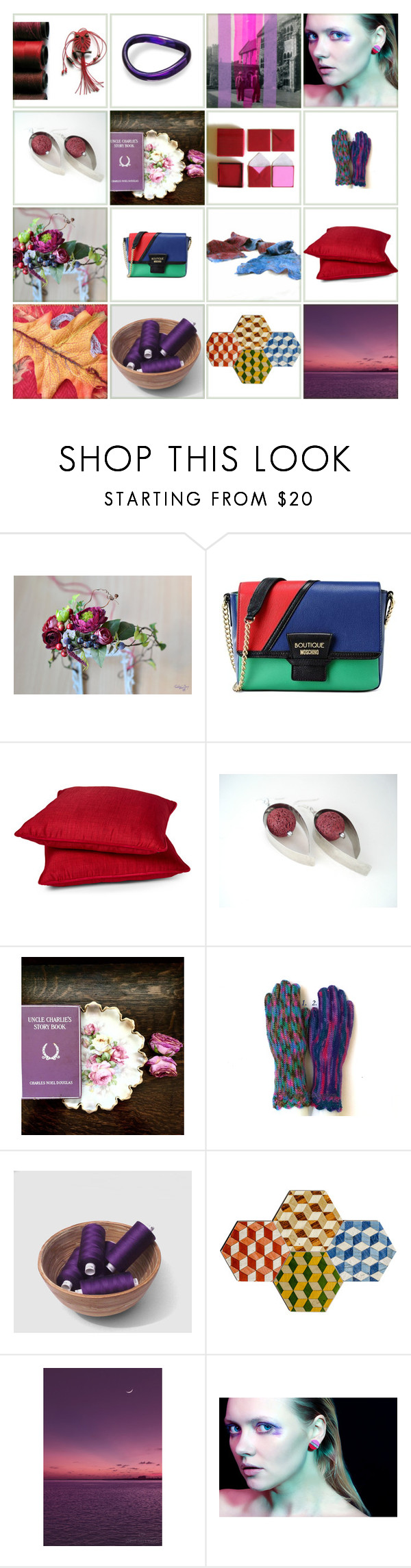 """""""Christmas Trends"""" by xena-style ❤ liked on Polyvore featuring Boutique Moschino and Rodeo Home"""