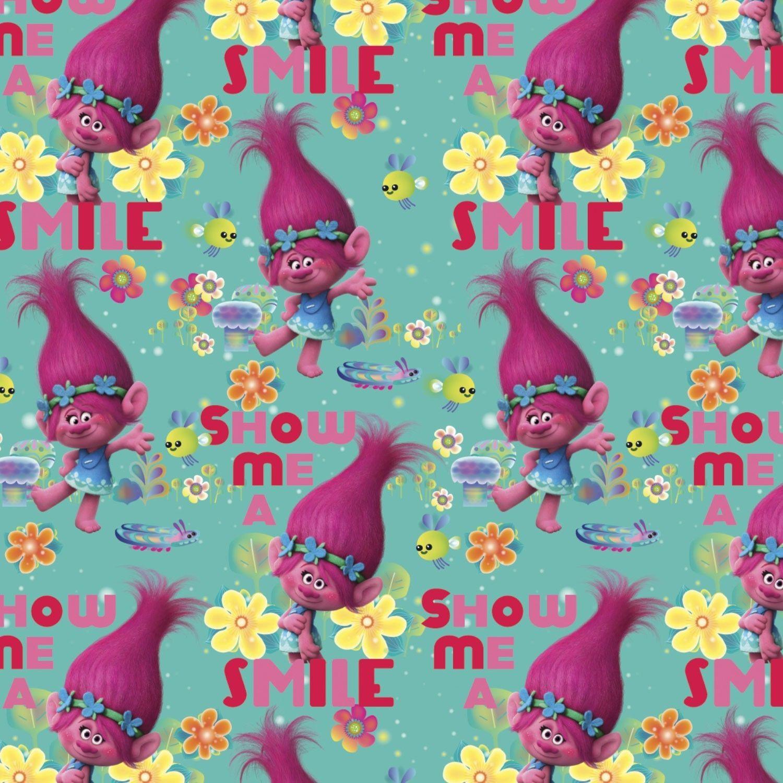 Yard Dreamworks Trolls Poppy Show Me A Smile Fabric