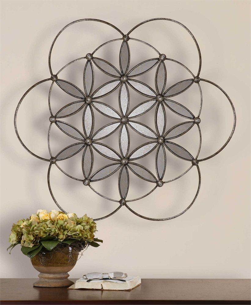 Uttermost baiano decorative metal mirror products pinterest