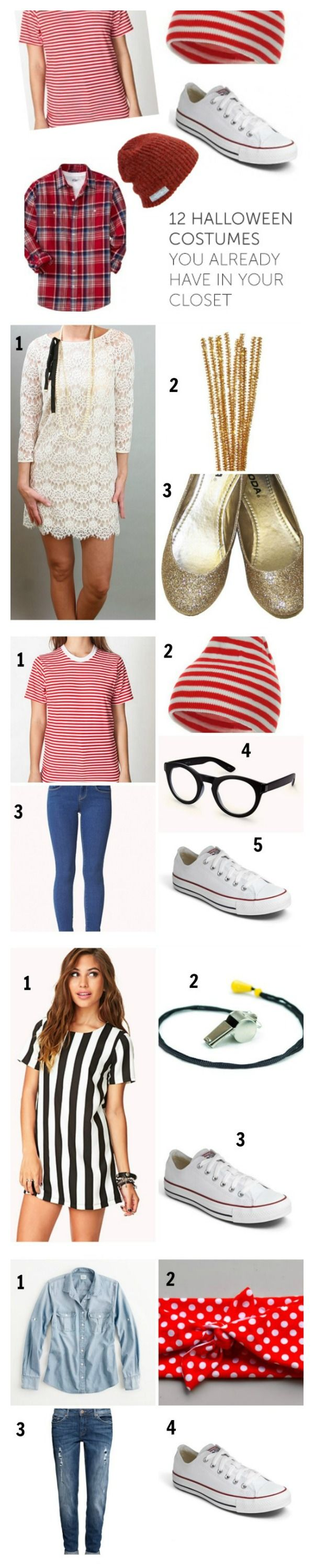 Halloween Costume Ideas Pulled From Your Closet! | dress up ...