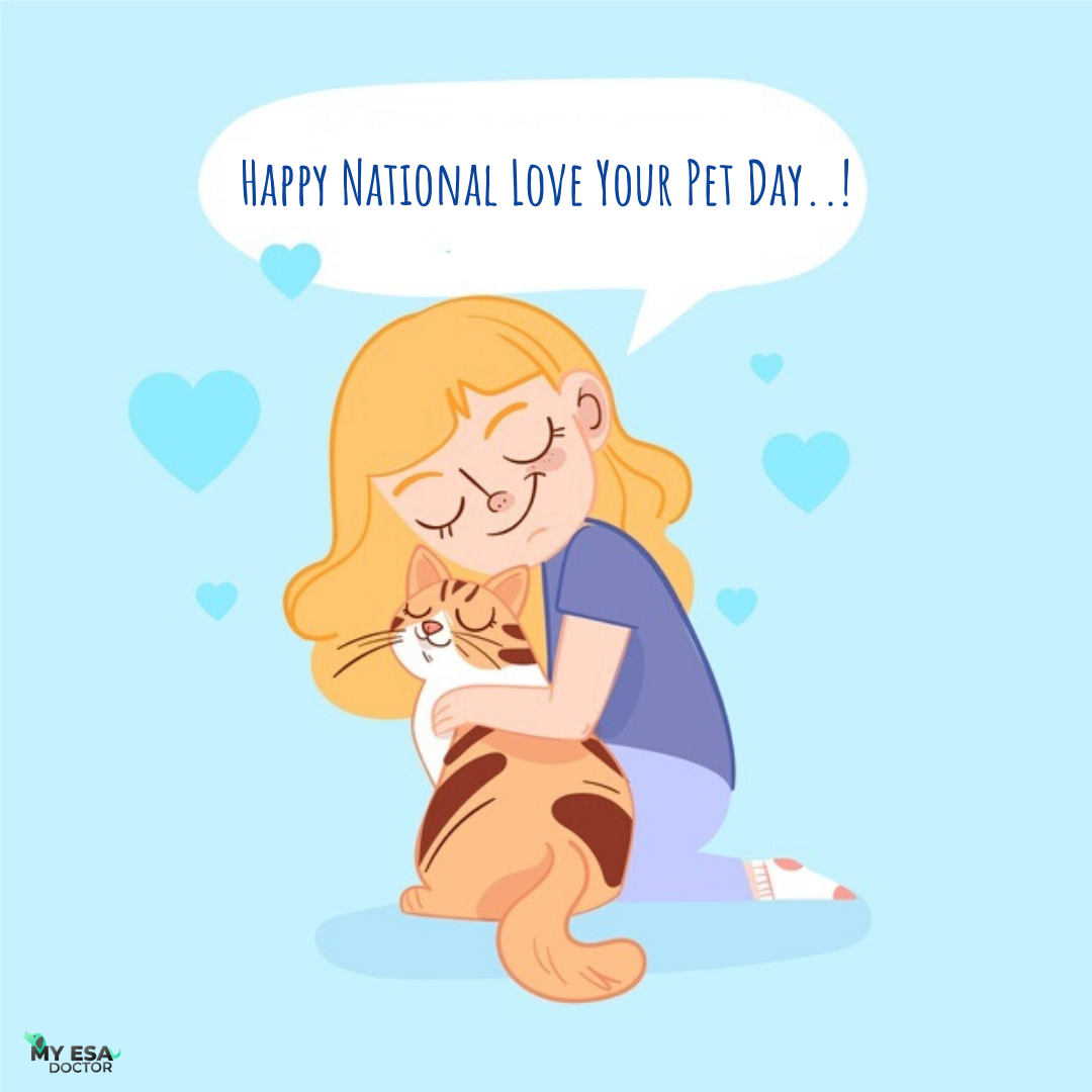 ESA Letter Love your pet day, Emotional support animal