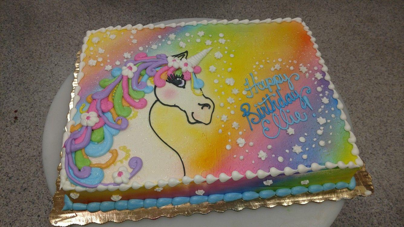 Lisa frank inspired unicorn cake unicorn birthday cake
