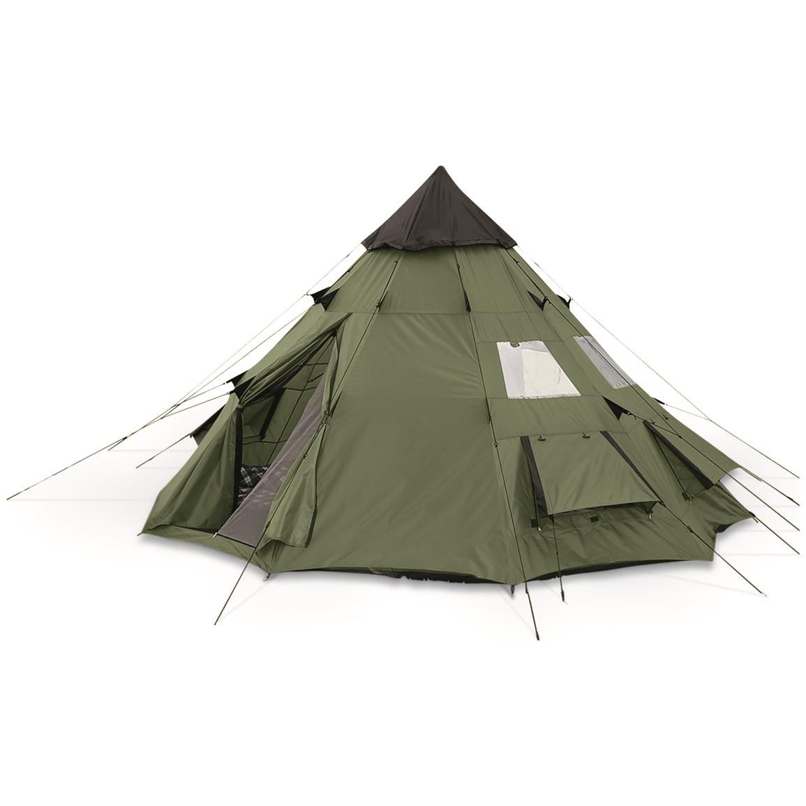 Guide Gear Teepee Tent, 10' x 10
