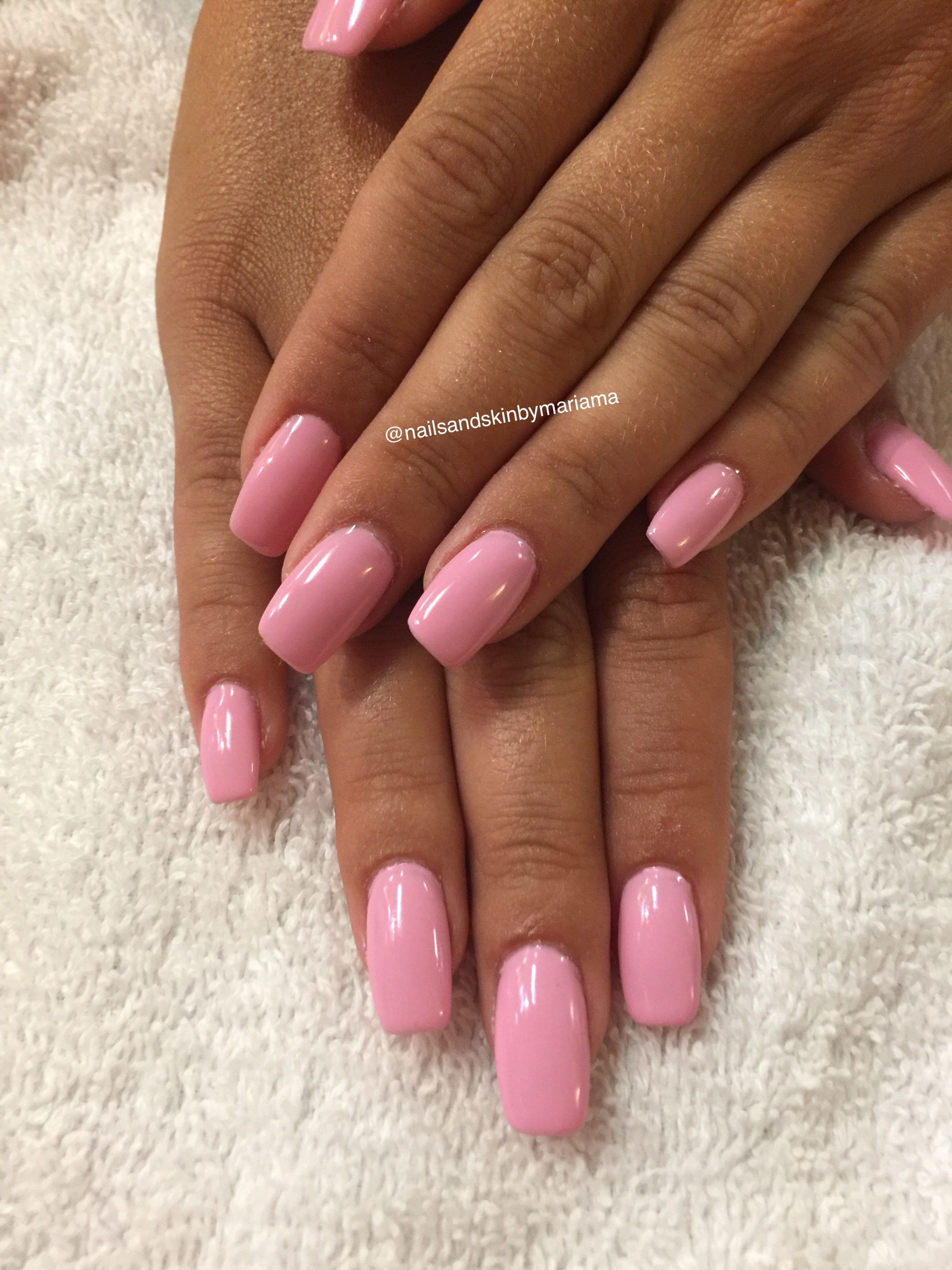 Sns Nails Nails Pink Acrylic Nails Sns Nails