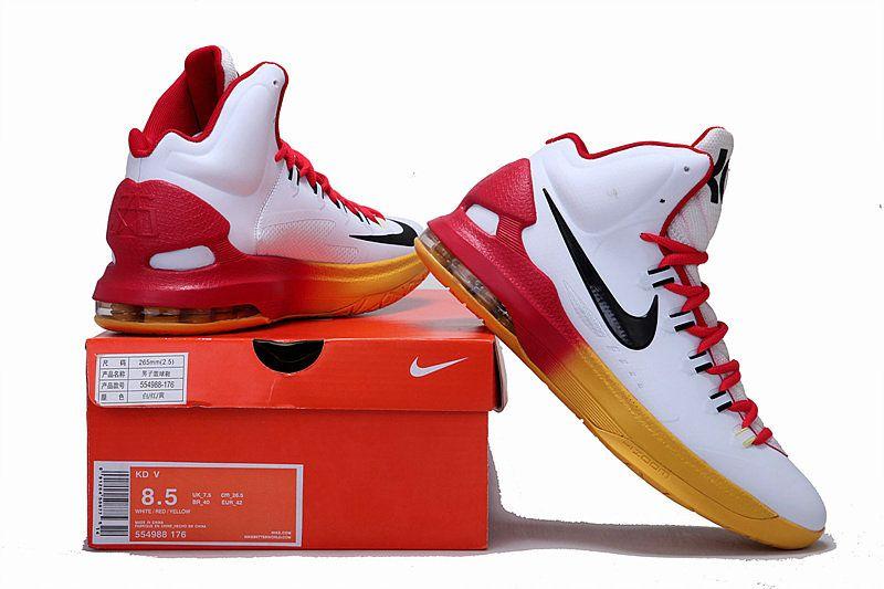 Nike KD V Yellow Red Gradient  5ebab2e6a