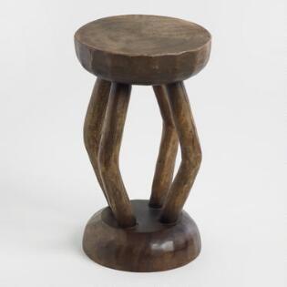 Fantastic Tribal Carved Wood 4 Leg Stool Pgi Project Boerum Hill Pdpeps Interior Chair Design Pdpepsorg