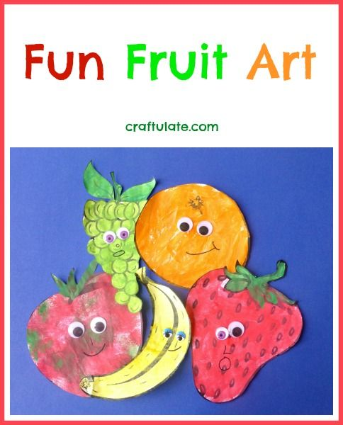 Fun Fruit Art From Craftulate