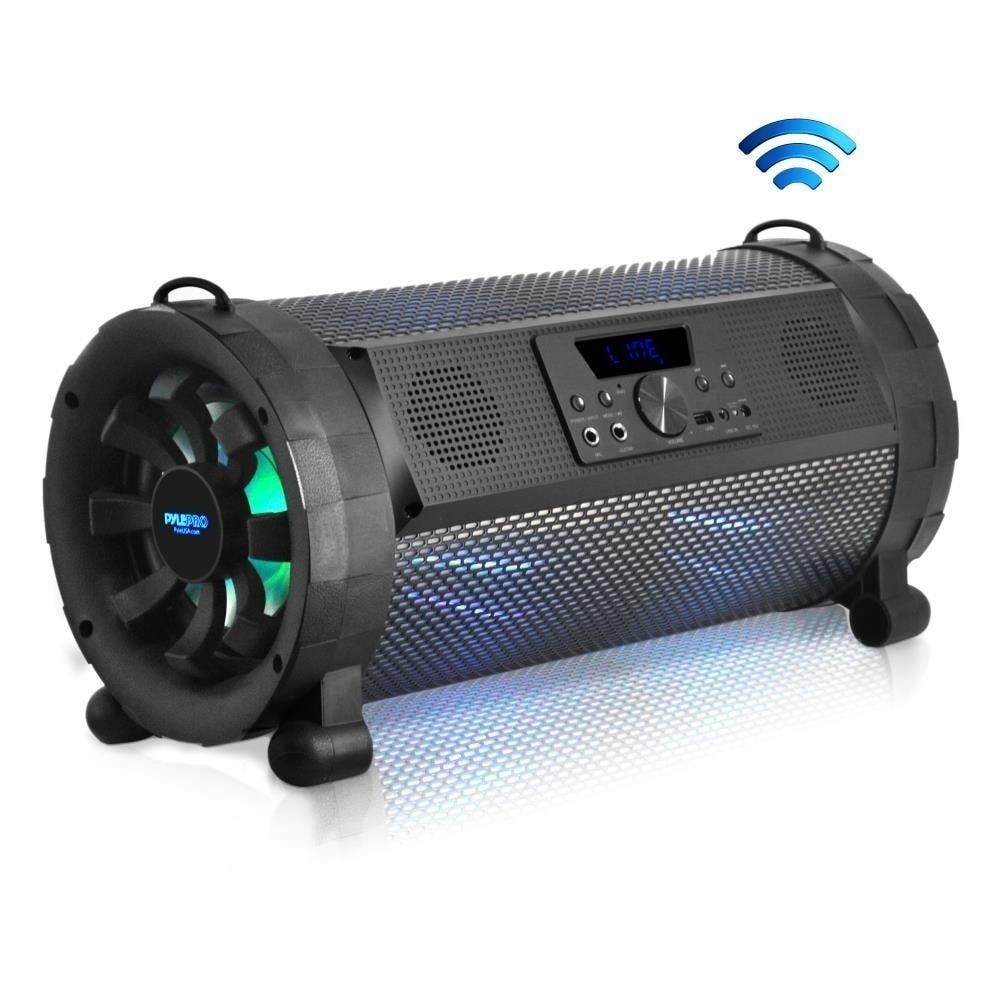 Pyle 300w Wireless Portable Street Blaster Bluetooth Boom Box Speaker Stereo System With Built In Led Lights Black In 2020 Boombox Stereo Speakers Wireless Speakers