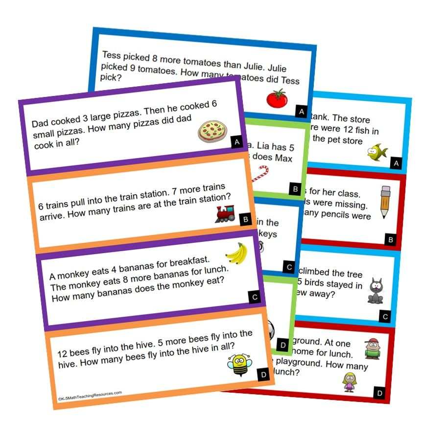 1st Grade Number Word problems, Math word problems, Words