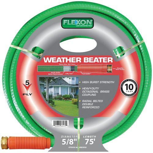 Flexon 58Inch by 75Foot Weather Beater Garden Hose WB5875 ** Find out more about the great product at the image link.