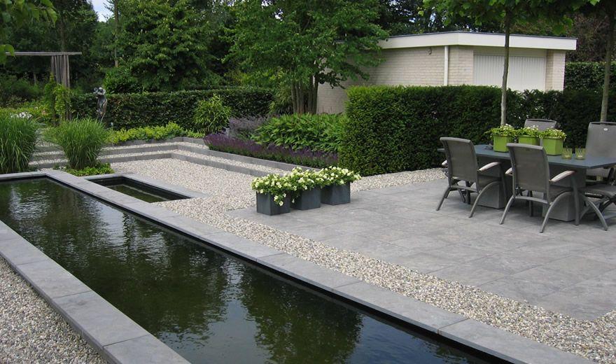 Moderne tuinen strak en modern tuinontwerp hedendaagse for Voortuin strak modern