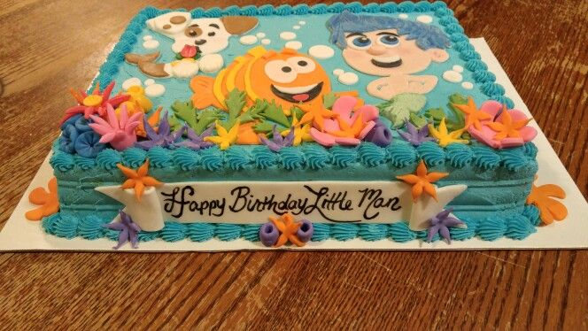 Brilliant Bubble Guppies Themed Cake For A Little Boy Birthday All Butter Funny Birthday Cards Online Hetedamsfinfo