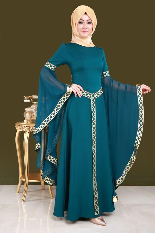 أجمل موديلات فساتين نساء محجبات جديدة عالم الصور Tarz Elbiseler Kiyafet The Dress