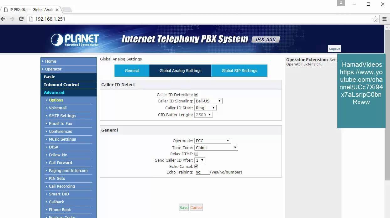 Lecture 9 Planet Ipx 330 Ipx 2100 Advanced Options الخيارات المتقدمة Planets Caller Id Pbx