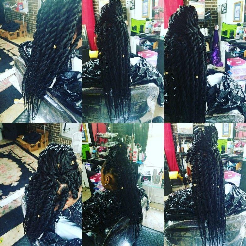 Jumbo twist w/ urban beauty braiding hair Urban beauty