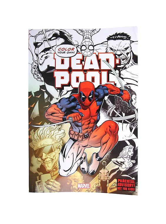 Marvel Deadpool Coloring Book Marvel Coloring Coloring Books Adult Coloring Books