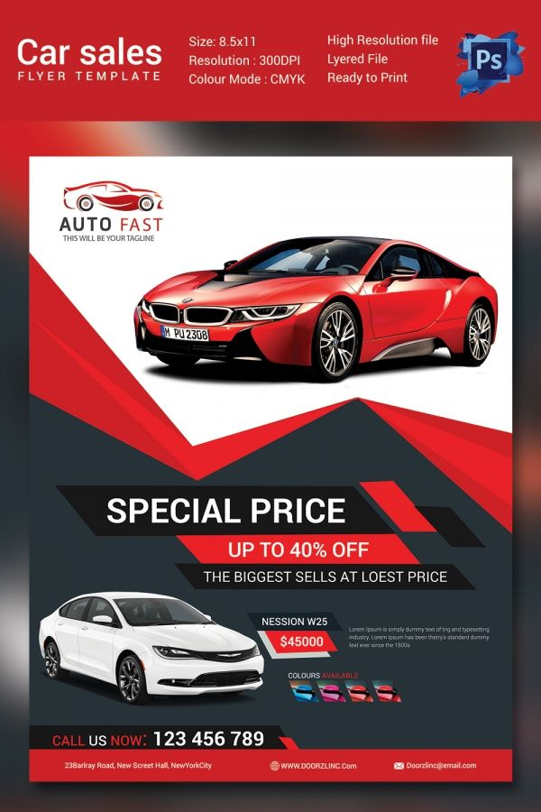 Image Result For Automobile Flyer Templates Graphic Design Print