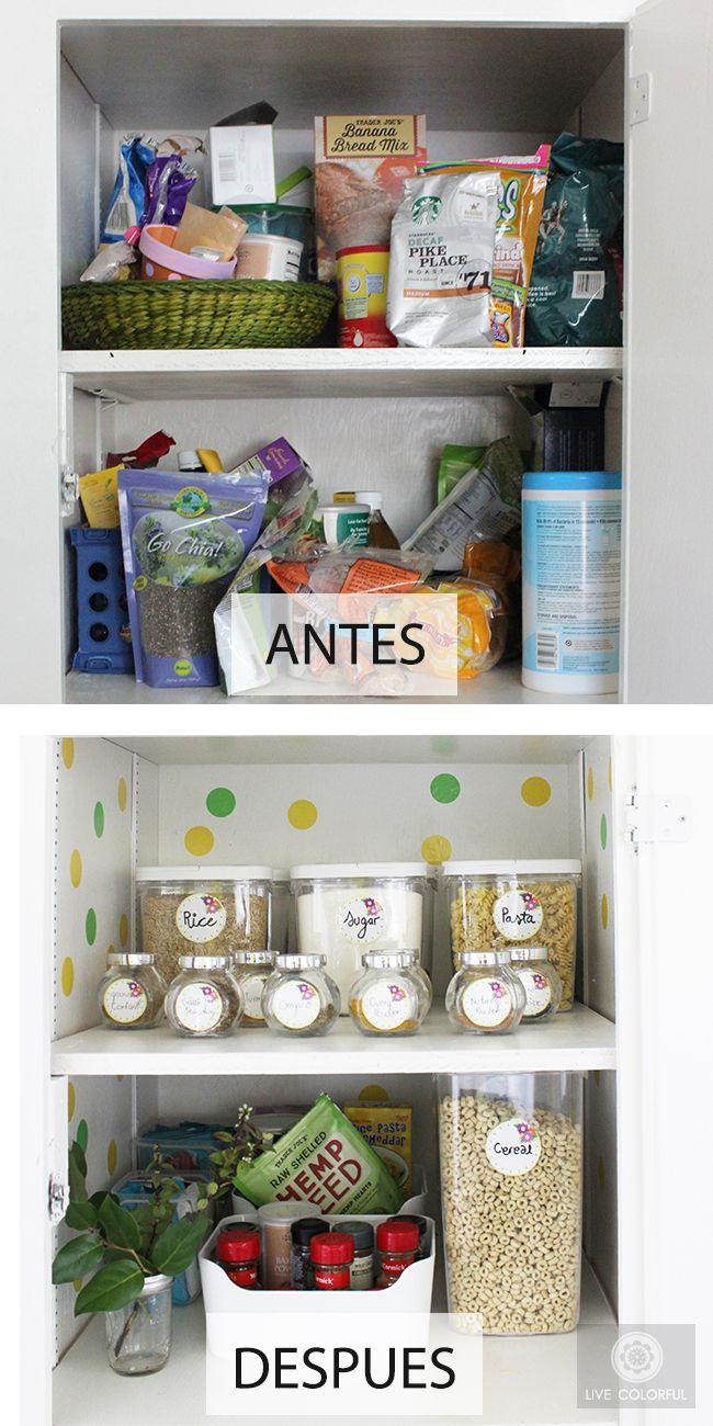 Organiza la alacena de tu cocina etiquetas imprimibles gratis diy pinterest organizar - Alacenas para cocinas ...