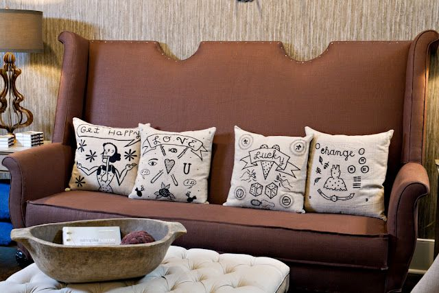 Traditional Tattoo Art Pillows Are Back In Stock And Take A Gander At The Handsome Flemish Sofa That Recently Arri Pillows Traditional Tattoo Art Pillow Art
